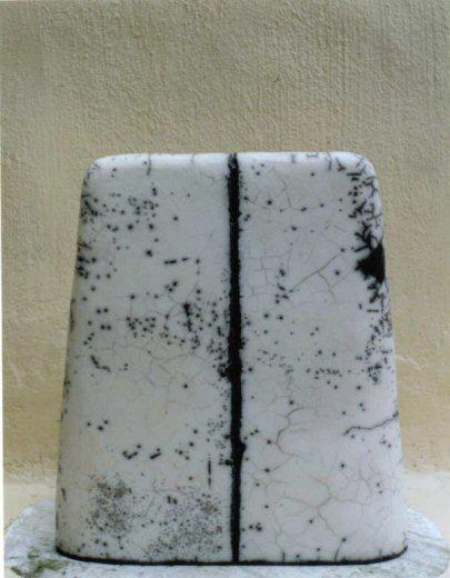 Megalithic form, naked raku