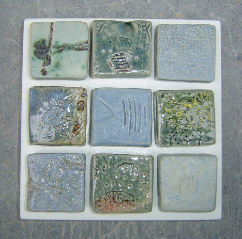 Ceramic Field 'Sea Garden', 25x25 cm